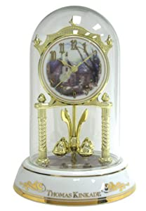 Thomas Kinkade Anniversary Clock, Morning Glory Cottage