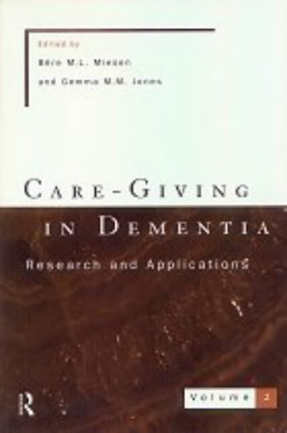 care-giving-in-dementia-2-research-and-applications-vol-2-by-unknown-1997-paperback