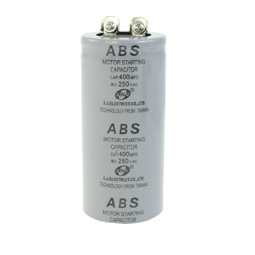ABS 400MFD 400uF 250V Cylindrical AC Motor Starting Capacitor by Amico
