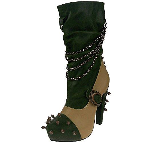 Womens-Hades-Faline-Boot-Tan-Green