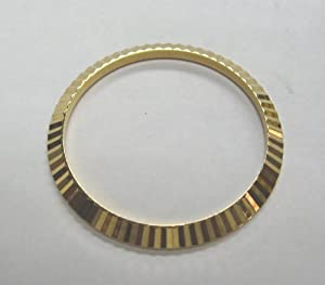 Fluted Bezel for Rolex Mens Datejust, President Gold Plated