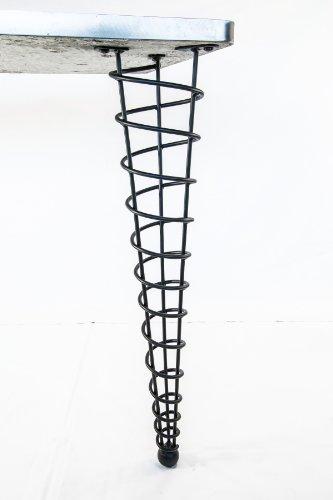 "Handmade Modern Metal Table Leg, 28"" Height, Straight, Single Leg"