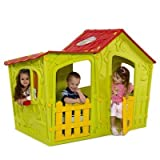 Keter Magic Villa Green And Red Plastic Playhouse