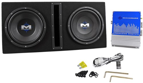 "Brand New Mtx Magnum Mb210Sp 10"" 800 Watt Peak / 400 Watts Rms Dual 2 Ohm Vented Subwoofer Enclosure With Amplifier And Preamp Rca Outputs"