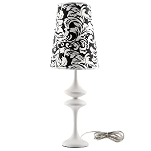 LexMod Illusion Modern Table Lamp, White