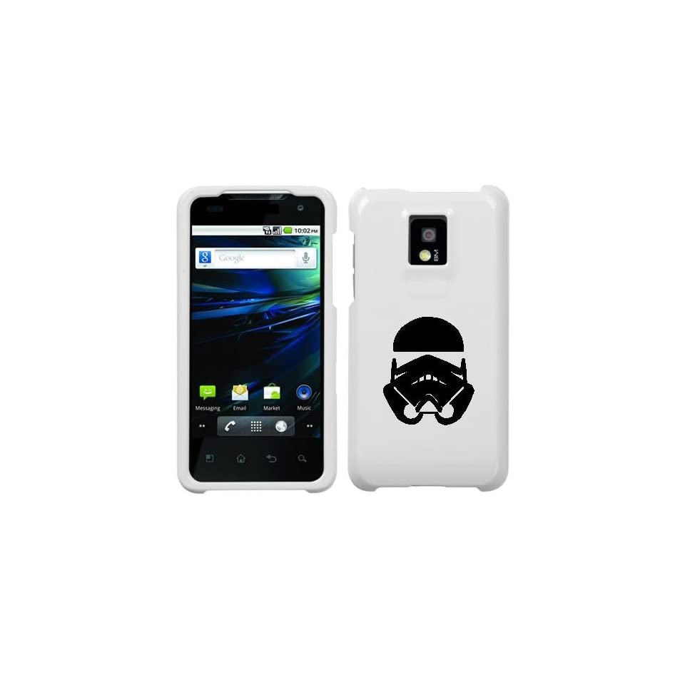 LG P999 G2X BLACK STORMTROOPER ON A WHITE HARD CASE COVER