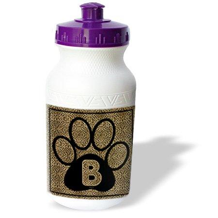 Wb_25935_1 Doreen Erhardt Monogrammed Collection - Letter B Standard Cheetah Print Cat Paw - Water Bottles