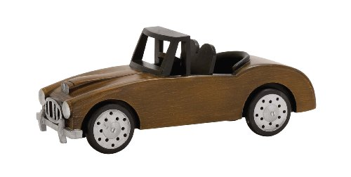 Benzara Sassy Styled Fascinating Wood Car, Yellow
