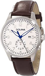 310faa703fe Review   Golana Swiss Men s AE500-3 Aero 500 Swiss Quartz Watch