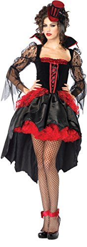 Morris Costumes Women's Midnight Mistress, Lg, Black/Red