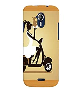 Fuson Scooter Girl Back Case Cover for MICROMAX A117 CANVAS MAGNUS - D4125
