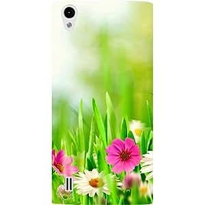 Casotec Spring Floral Pattern Print Design Hard Back Case Cover for VIVO Y15