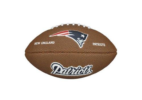 Infant New England Patriots Brown Mini Football Creeper