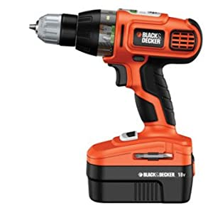 Black & Decker Smart Select 18V Drill with 2 Batteries