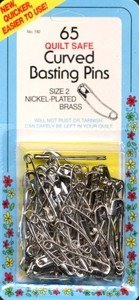 Collins Curved Basting Safety Pins Size2 65pc