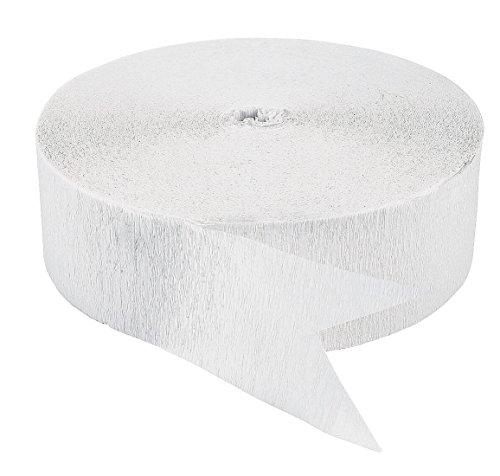 White Crepe Paper Streamers (500 ft) (Crepe Paper White compare prices)