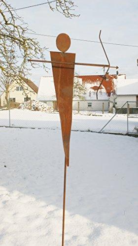 Gartendeko skulptur aus rost eisen stecker amor 1 70 m for Gartendeko rost stecker