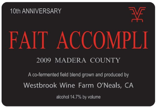 2009 Westbrook Wine Farm Vineyard And Winery Fait Accompli 10Th Anniversary Red Bordeaux / Meritage Style Blend 750 Ml