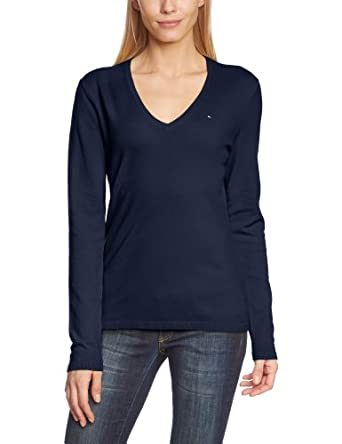 tommy hilfiger damen pullover new ivy v nk swtr bekleidung. Black Bedroom Furniture Sets. Home Design Ideas