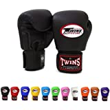 Twins Special Muay Thai Boxing Gloves BGVL3 Color: Black Blue Red Green Yellow White Orange Pink Purple Brown Size: 8 10 12 14 16 oz Training & Sparring All Purpose Gloves for Kick Boxing MMA K1 Tight Fit Design with vectro straps