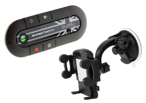 SuperTooth Buddy Kit Vivavoce Bluetooth 2.1 con Supporto auto per Smartphone, Union Jack