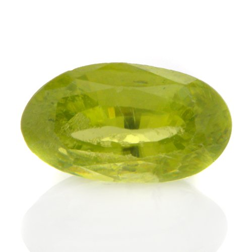 Natural Africa Green Sphene Loose Gemstone Oval Cut 1.20cts 8*5mm Mind Blowing