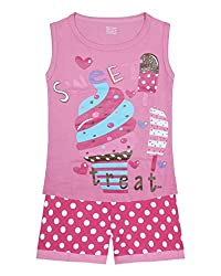 Jazzup Cotton Printed Nightsuit For Girls