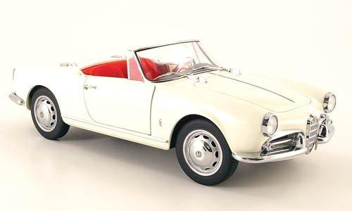Alfa-Romeo-Giulietta-1300-Spider-weiss-1955-Modellauto-Fertigmodell-Auto-Art-118
