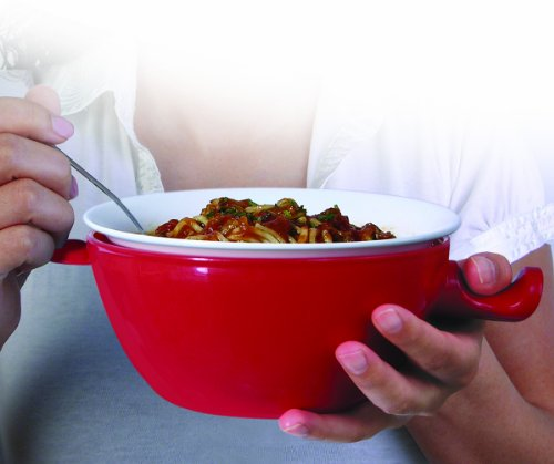 COOL TOUCH MICROWAVE COOKING BOWL - RED (3 PIECE SET)