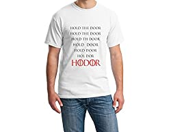Teeforme Hold The Door T-shirt White