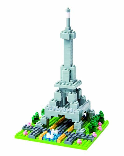 Micro-Sized Building Blocks Will Enable You To Execute Even The Finest Details Like Never Before - Nanoblock Eiffel Tower (200 pcs)