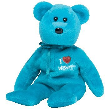 TY Beanie Baby - WASHINGTON the Bear (I Love Washington - State Exclusive)