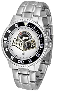 Purdue Boilermakers Competitor Watch with a Metal Band by SunTime