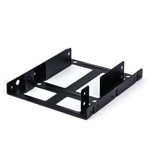 """CSL - 2,5"""" Dual Einbaurahmen 2x HDDs oder SSDs   3,5"""" auf 2,5""""   kompatibel für bis zu 2 Festplatten in 2,5"""" (6,4cm) Größe   inkl. Montagezubehör"""