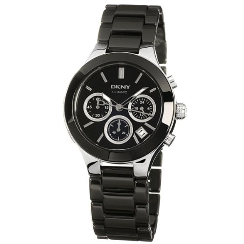 DKNY Ceramic Chronograph Black Dial Women's watch #NY4914