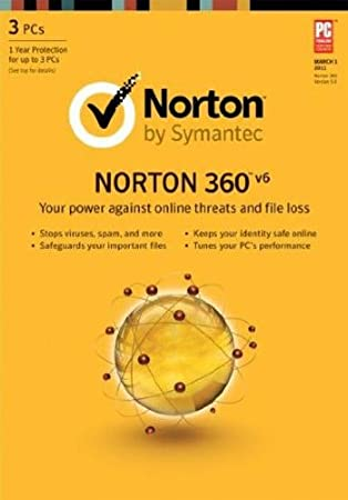 Symantec Norton 360™ v6 for 3 PCs with Norton Mobile Security for Android Bundle