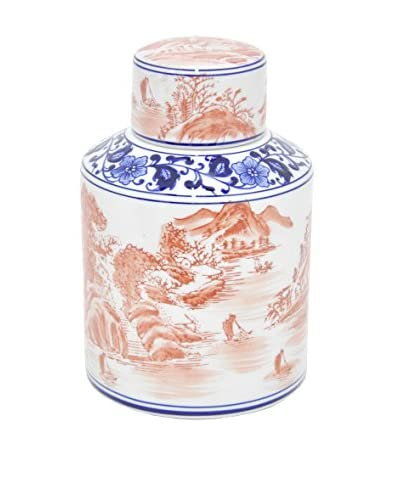 Three Hands Scenery Ceramic Jar with Lid