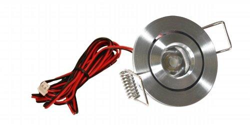 Satin Aluminum Led Recessed Mini Swivel Light