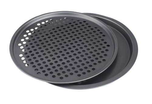 Starfrit 093621 Non-Stick Pizza Pans, 13.5-Inch, Set of 2