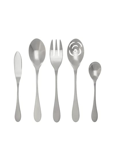 Knork Duo 5-Piece Stainless Steel Serving Set