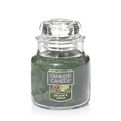 Yankee Candle Balsam & Cedar Small Jar Candle, Festive Scent