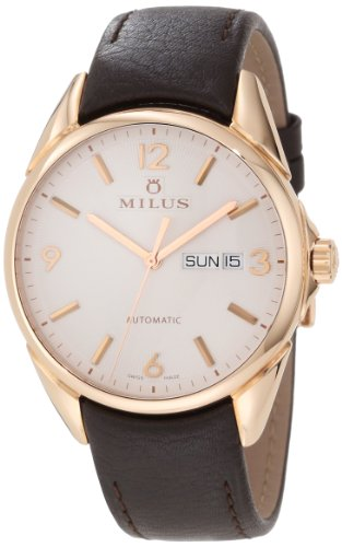 Milus Men's TIRC401 Stainless Steel with White Dial Watch