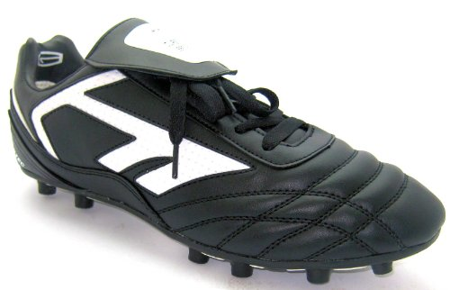 Size 9 Hi Tec Mens Moulded 14 Stud Black Lace Up Football Boots