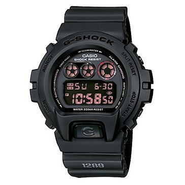 Casio G Shock DW6900MS-1 Tough Matte Black Digital Watch