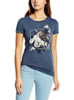 Gas Jeans Camiseta Manga Corta (Azul)