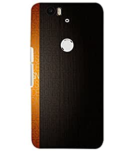 HUAWEI NEXUS 6P TEXT Back Cover by PRINTSWAG