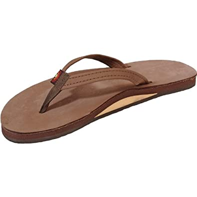Rainbow - Womens Premier Leather Single Layer With Narrow Strap Sandals, Size: Small / 5.5-6.5 B(M) US, Color: Expresso