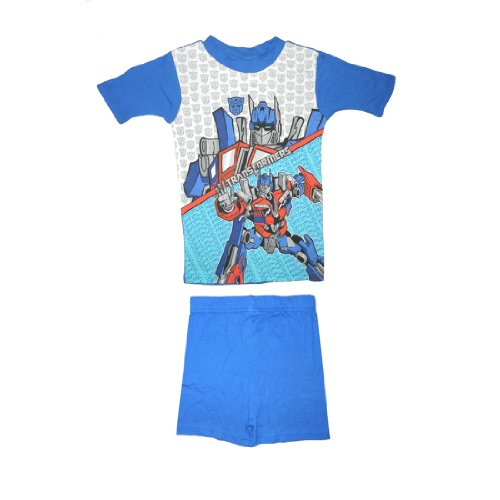 2 PCS SET: Transformers Boys Or Girls Sleepwear Pajama Short Sleeve Top & Shorts Set