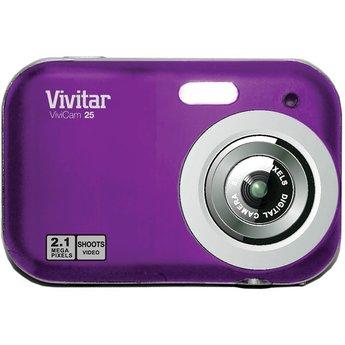 Vivitar Digital Camera With TFT Screen (V25N-GRAPE)