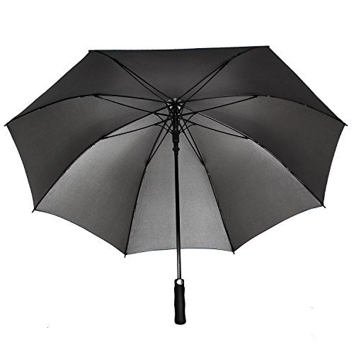 Rainlax 62 inch Oversize Canopy Automatic Open Large Outdoor Windproof Golf Umbrella 210T Teflon Rain&Wind Repellent UPF 50+ Sun Protection Umbrellas (Navy Blue)